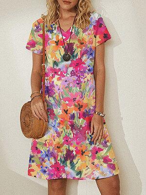 Berrylook Fashion Print Dress clothing stores, shop, shift dress, white shift dress