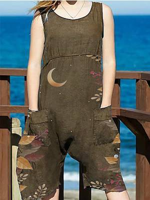 Berrylook Fashion sleeveless printed jumpsuit online sale, clothes shopping near me, short jumpsuit, formal jumpsuits
