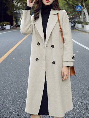 Berrylook Fashion casual lapel mid-length coat sale, shoppers stop, coats & jackets, cute winter coats