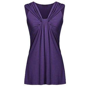 Berrylook V Neck Patchwork Plain Sleeveless T-Shirts online shop, fashion store,