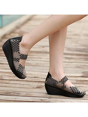 Berrylook Color Block Casual Shoes clothes shopping near me, shoping, Color Flat & Loafers,