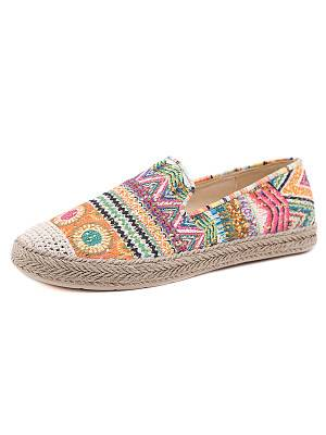 Berrylook Sweet Bohemian Ethnic Style Flat Comfortable Fisherman Shoes shoping, clothes shopping near me,