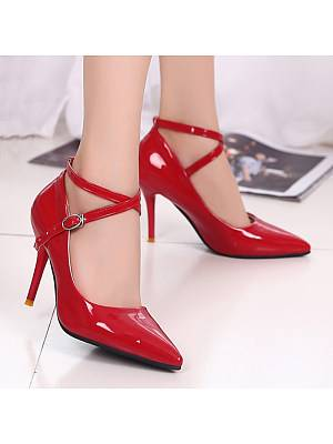 Berrylook Women's Fashion Pointed Toe Heels Shoes clothes shopping near me, online shop,