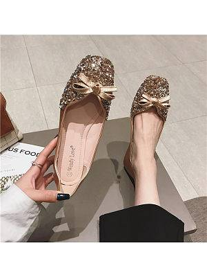Berrylook Popular new fashionable flat shoes with feminine pearls that are easy to match clothes shopping near me, online stores,
