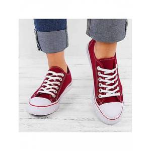 Berrylook Plain Flat Criss Cross Round Toe Casual Sneakers online shop, stores and shops, Plain Sneakers,