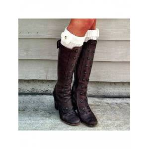 Berrylook Plain Chunky High Heeled Round Toe Date Outdoor Knee High High Heels Boots shoppers stop, clothes shopping near me, Plain High Heels Boots,