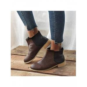 Berrylook Plain Flat Round Toe Date Outdoor Flat Boots stores and shops, online sale,