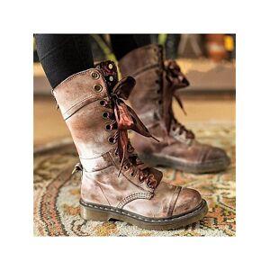Berrylook Plain Flat Round Toe Casual Outdoor Mid Calf Flat Boots online shop, cheap online shopping sites, plain Flat Boots,