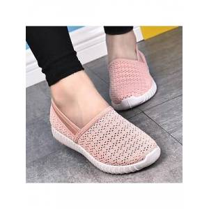 Berrylook Plain Flat Round Toe Casual Sport Sneakers shoppers stop, shoping,