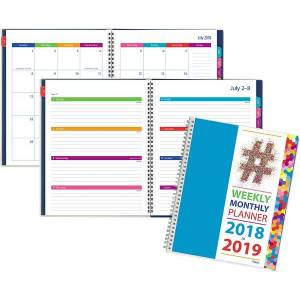 Mead Typography Academic Weekly-Monthly Planner - Planners & Appointment Books