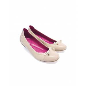 Seraphine Nude Ballet Flats with Pink Insoles