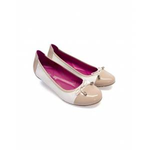 Seraphine Ivory & Nude Ballet Flats