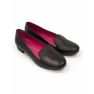 Seraphine ShoeTherapy Black Leather Loafers