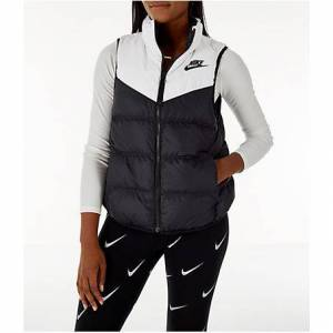 Nike Women's Sportswear Reversible Windrunner Down Vest in Black Size Small 100% Polyester/Taffeta