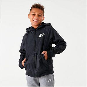 Nike Boys' Sportswear Windrunner Jacket in Black Size Medium 100% Nylon