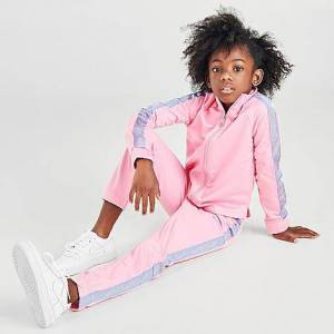 Nike Girls' Little Kids' Fade Tape Tricot Track Suit in Pink Size 6