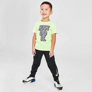 Nike Boys' Toddler JDI T-Shirt and Jogger Pants Set in Green/Black Size 4 Toddler Knit
