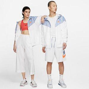 Nike Men's Sportswear Colorblock Windrunner Hooded Jacket in White Size 2XLT Taffeta