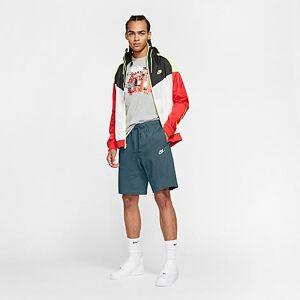 Nike Men's Sportswear Club Fleece Shorts in Green Size Small 100% Cotton/Fleece/Jersey