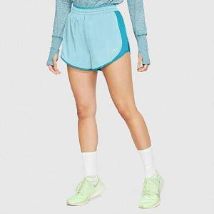 Nike Women's Tempo Luxe Running Shorts in Blue Size Large 100% Polyester