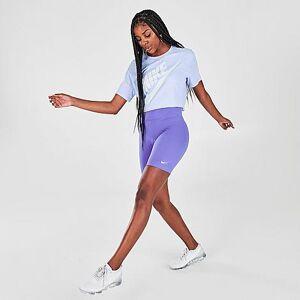 Nike Women's Sportswear Leg-A-See Bike Shorts in Black Size Medium Cotton/Polyester/Spandex