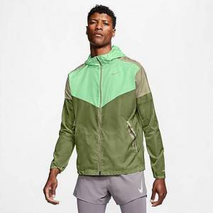 Nike Men's Windrunner Running Jacket in Green Size Large 100% Polyester