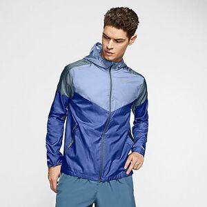 Nike Men's Windrunner Running Jacket in Blue Size Large 100% Polyester
