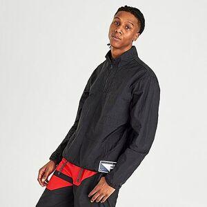 Nike Men's Flight Basketball Half-Zip Jacket in Black Size 2X-Large 100% Nylon