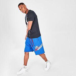 Nike Men's Sportswear Los Angeles Template Alumni Fleece Shorts in Blue Size 2X-Large Cotton/Polyester/Fleece