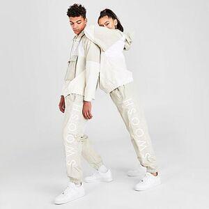 Nike Men's Sportswear Swoosh Woven Jogger Pants in White Size 2X-Large 100% Nylon