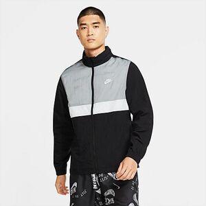 Nike Men's Sportswear Colorblock Woven Track Jacket in White Size 4XLT 100% Nylon