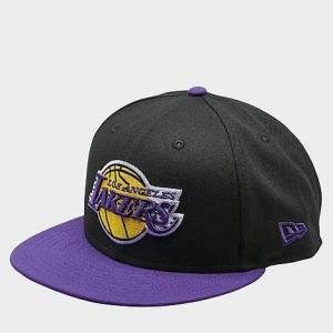 New Era Los Angeles Lakers NBA 9FIFTY Snapback Hat in Purple/Black/Black Polyester
