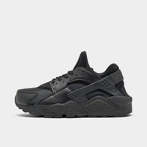 Nike Women's Air Huarache Casual Shoes in Black/Black Size 6.5 Leather/Spandex/Plastic