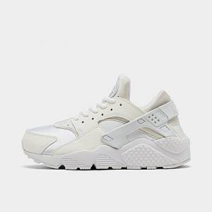 Nike Women's Air Huarache Casual Shoes in White/White Size 6.0 Leather/Spandex/Plastic