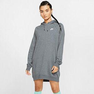 Nike Women's Sportswear Essential Fleece Dress in Grey/Charcoal Heather Size X-Small Cotton/Polyester/Fleece