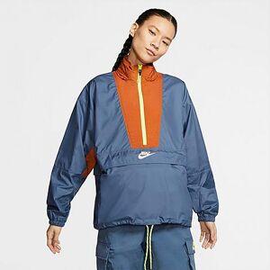 Nike Women's Sportswear Icon Clash Wind Jacket in Blue/Diffused Blue Size Medium 100% Polyester