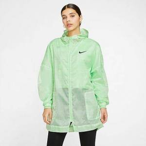 Nike Women's Sportswear Indio Woven Jacket in Green/Cucumber Calm Size X-Small Polyester