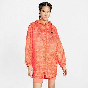 Nike Women's Sportswear Indio Woven Jacket in Orange/Team Orange Size Medium Polyester