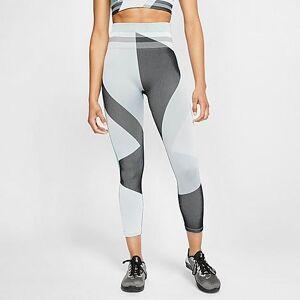 Nike Women's Sculpt Icon Clash Crop Running Tights in Grey/Grey Fog Size Small Knit