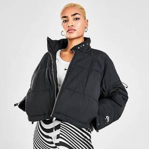 Nike Women's Sportswear Air Synthetic-Fill Down Puffer Jacket in Black/Black Size X-Small 100% Nylon/100% Polyester/Fleece