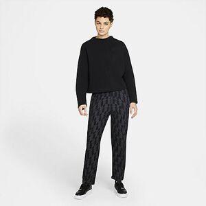 Nike Women's Sportswear Tech Pack Printed Woven Pants in Black/Black Size Large Cotton/Polyester/Fleece
