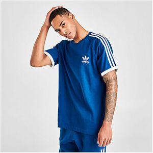 Adidas Men's Originals 3-Stripes California T-Shirt in Blue Size Medium 100% Cotton