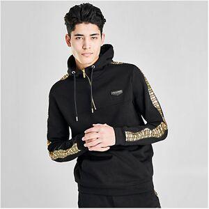 Pink Soda Sport Men's Supply & Demand Slick Hoodie in Black Size Large Fleece