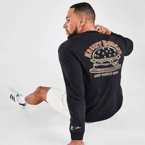 Adidas Men's Originals x The Simpsons Krusty Burger Long-Sleeve T-Shirt in Black/Black Size Large 100% Cotton