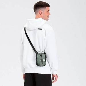 The North Face Inc Bozer Crossbody Bag in Green/Agave Green Nylon/Polyester