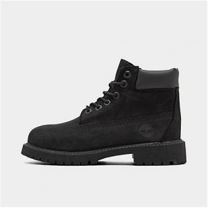 Timberland Big Kids' 6 Inch Classic Boots in Black Size 6.0 Leather
