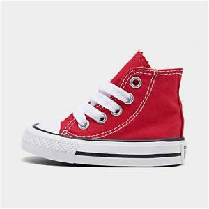 Taylor Converse Kids' Toddler Chuck Taylor Hi Casual Shoes in Red Size 8.0 Canvas