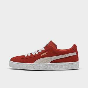 Puma Boys' Big Kids' Suede Casual Shoes in Red Size 5.0