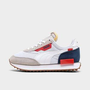Puma Big Kids' Future Rider Play On Casual Shoes in White Size 5.5 Suede