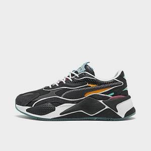 Puma Big Kids' RS-X³ Fairgrounds Casual Shoes in Black Size 4.0